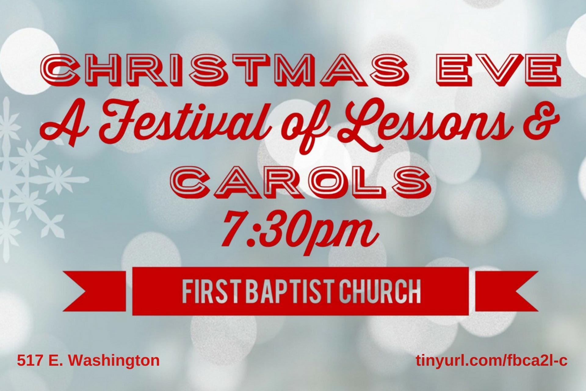 First Baptist Church of Ann Arbor presents a Festival of Lessons and Carols